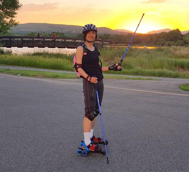 Roller Skating Kendrick Lake Sunset